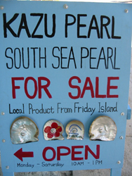 Venda de pérolas nas ilhas ao norte da Austrália