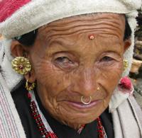 Uma avó nepalesa