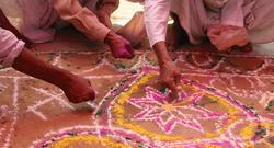 Desenho para celebrar o casamento hinduísta