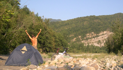 Foto: Camping nos vales.