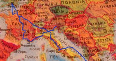 mapa percurso europa