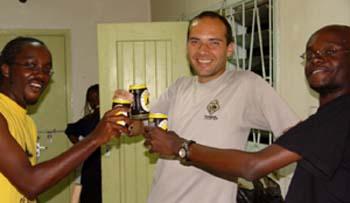 Amigos Eric e Bonny em Nairobi