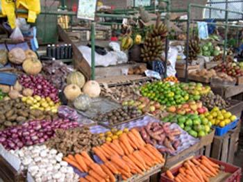 Mercado em Mombassa