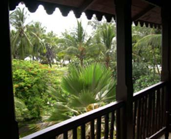 Vista de um dos hoteis de luxo da regiao